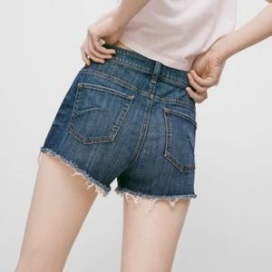 Aritzia Talula Cutoff Denim Shorts Size 24